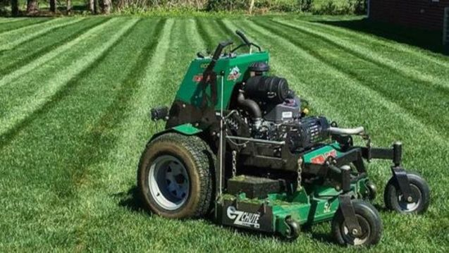 Front yard lawn care service