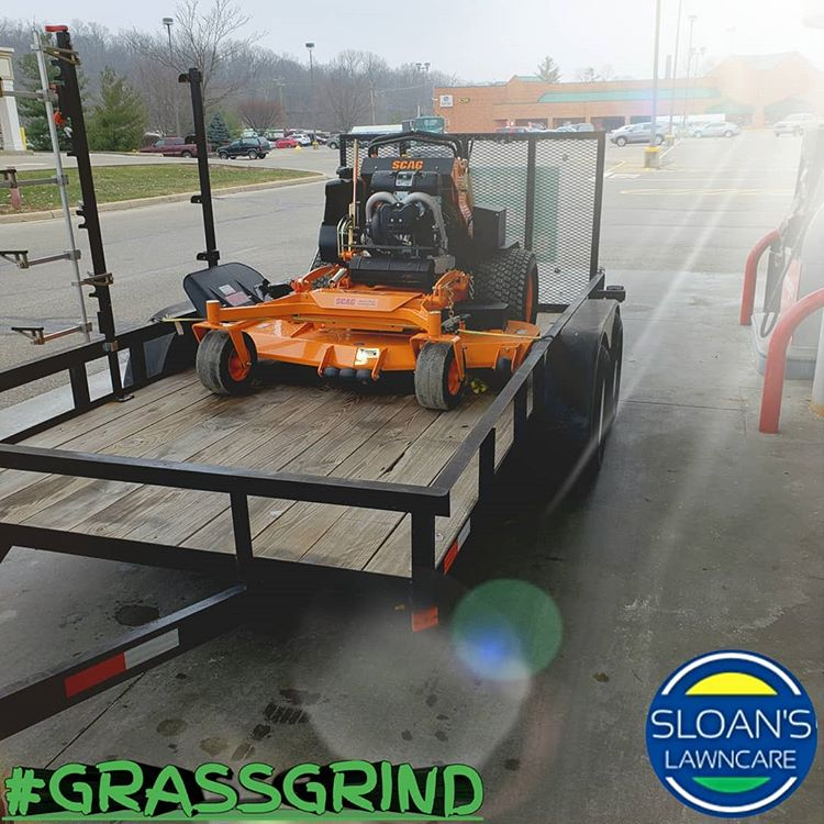Sloan's Orange Scag Mower